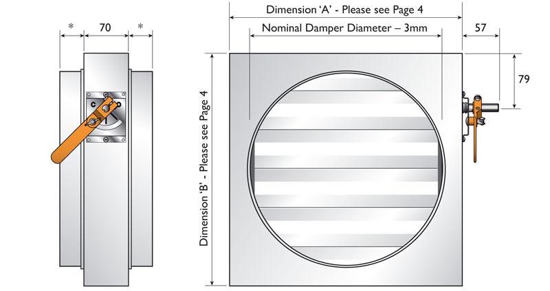 Circular Spigotfit Dimensions